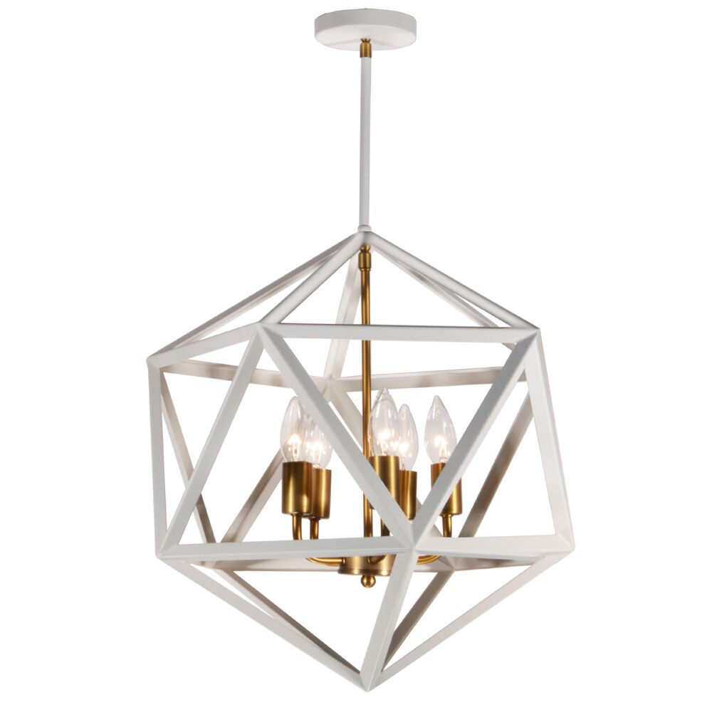 Ohalloran 5-Light Geometric Chandelier Finish: Antique Brass