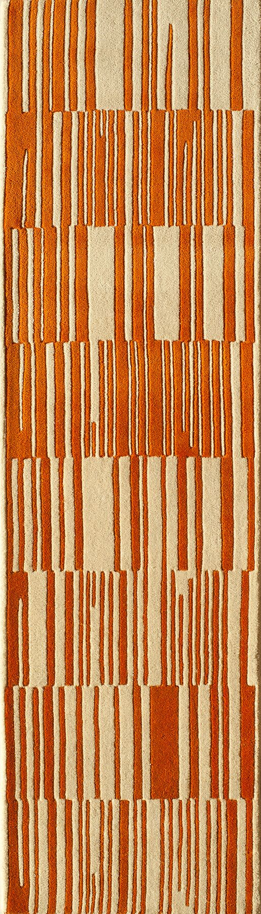 Sawyer Hand-Tufted Orange Area Rug Rug Size: Rectangle 3'6