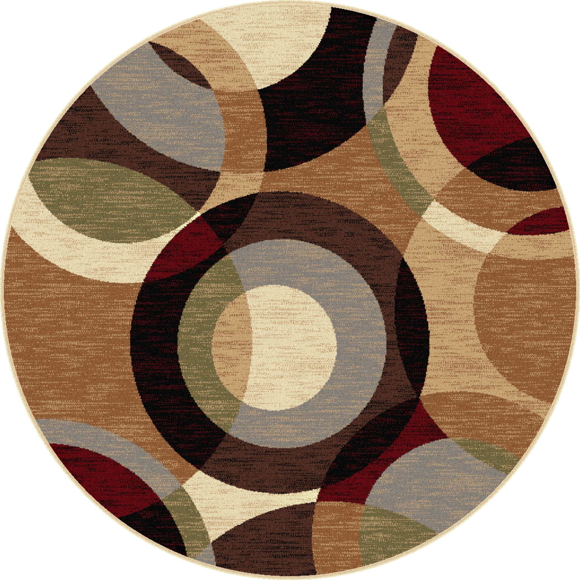 Hartle Brown Area Rug Rug Size: 5'3'' Round