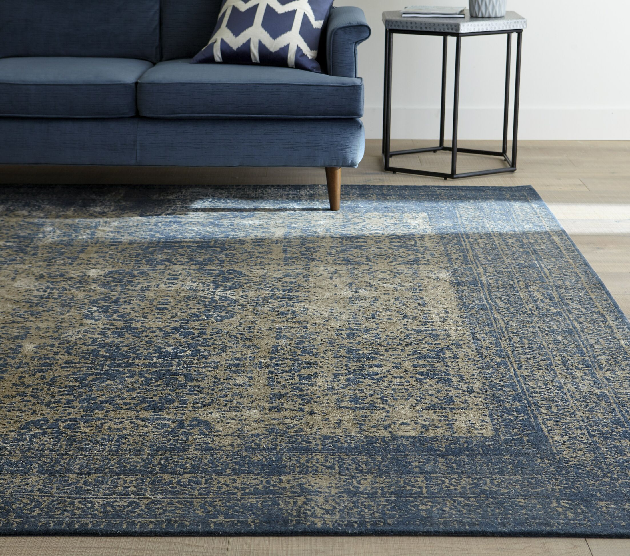 Bandhura Blue Rug Rug Size: Rectangle 3'3