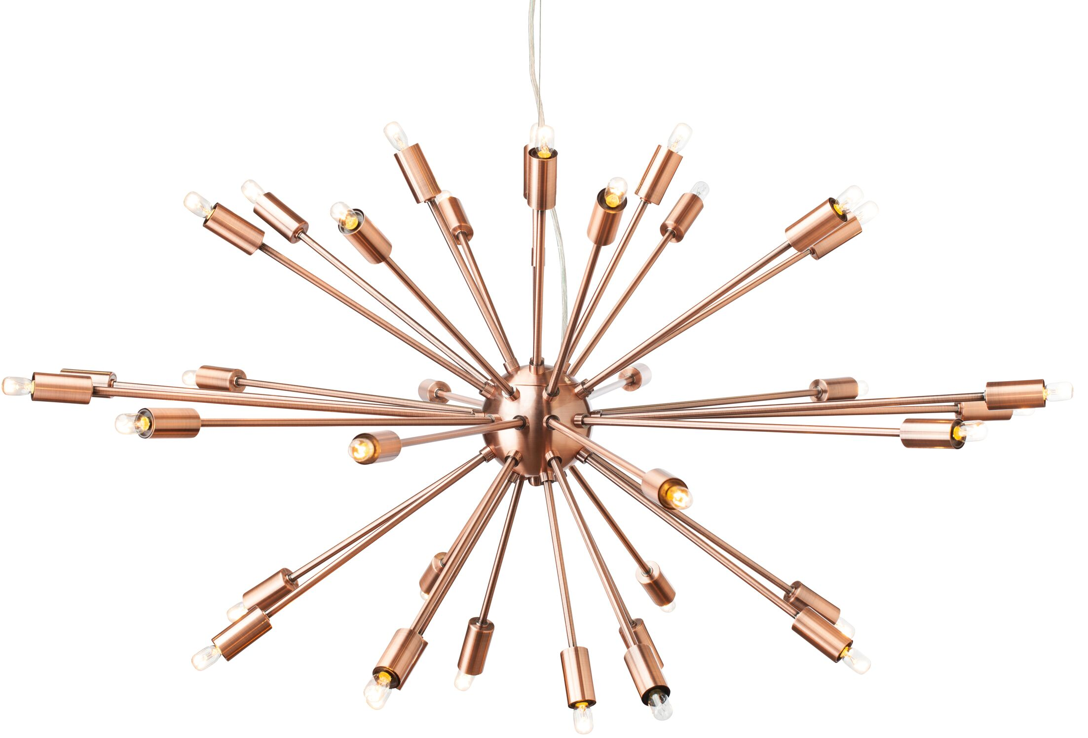 Blackman 36-Light Sputnik Chandelier Finish: Copper