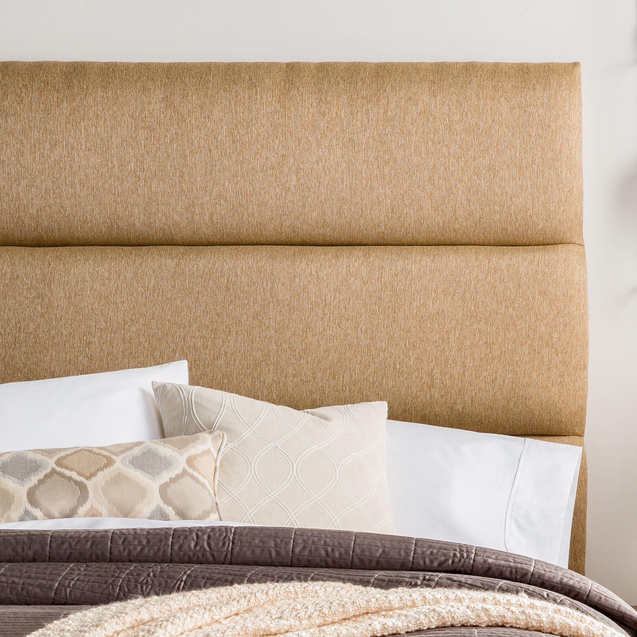 Lytle Upholstered Panel Headboard Size: Queen, Upholstery: Golden Brown
