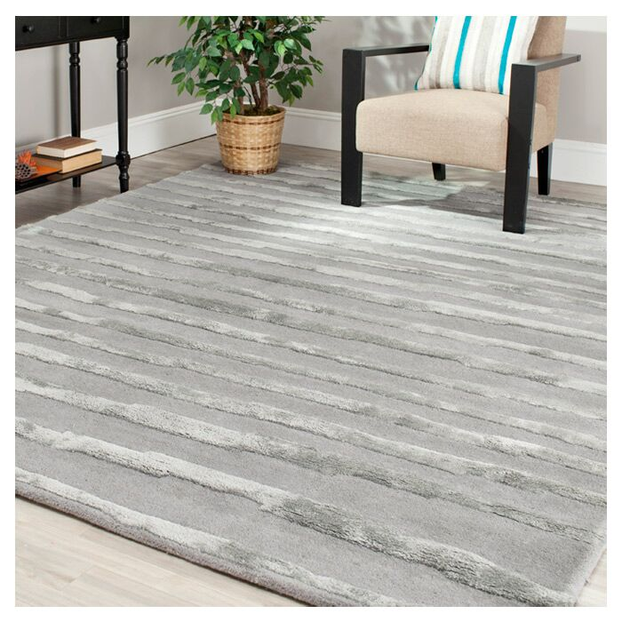 Avonmore Hand-Tufted Wool Gray Area Rug Rug Size: Rectangle 9'6