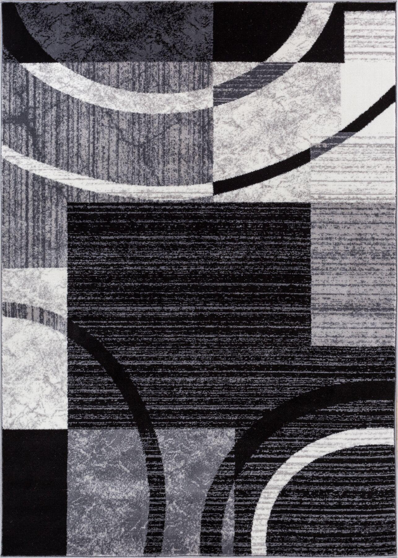 Cuadrado Black Area Rug Rug Size: Rectangle 5'3