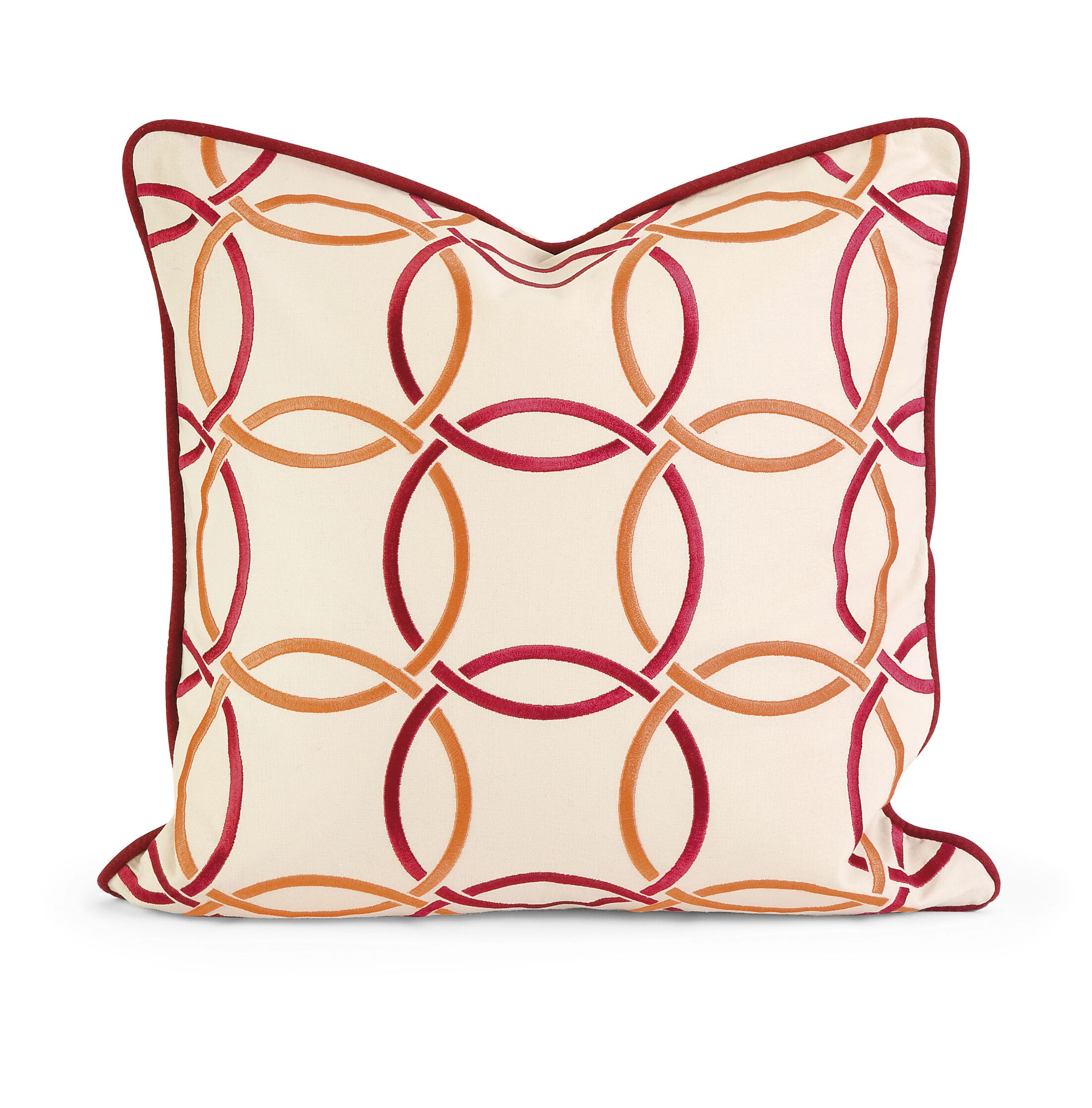 Vogelsang Catina Cotton Throw Pillow Color: Orange/Red