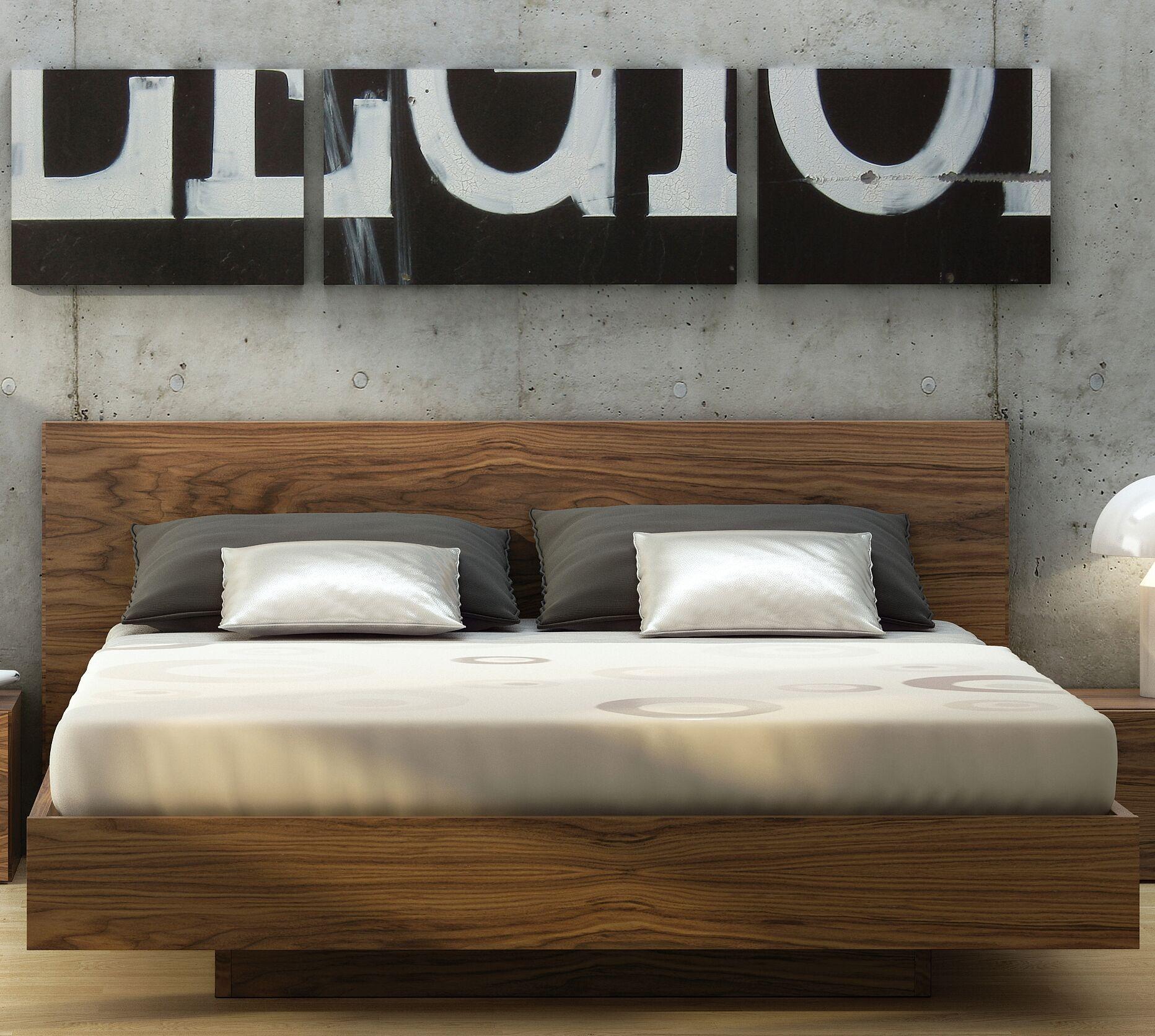 Horsham Platform Bed Size: King, Color: Walnut