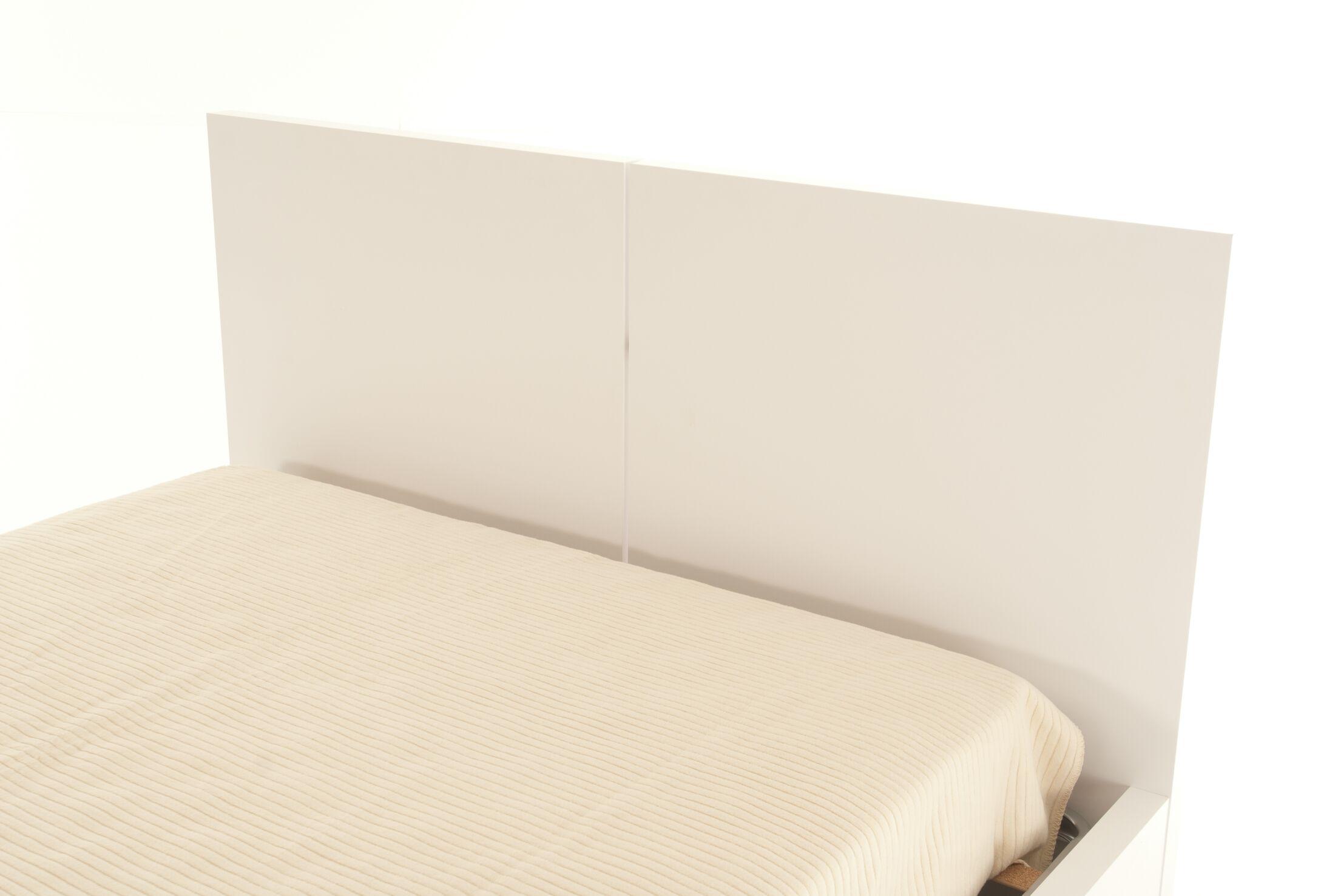Horologium Platform Bed Color: Pure White, Size: King