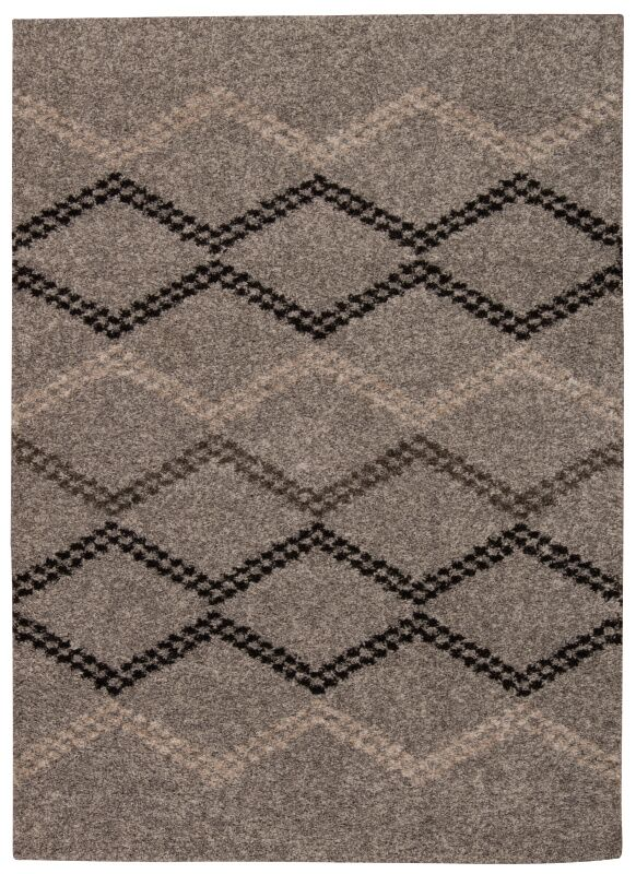 Rushmere Gray/Black Area Rug Rug Size: Rectangle 5' x 7'