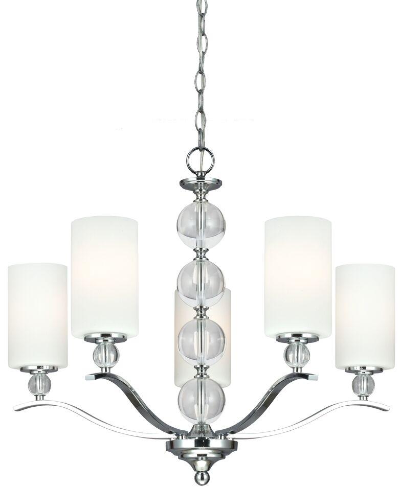Astoria 5-Light Shaded Chandelier Bulb Type: 100W A19 Medium