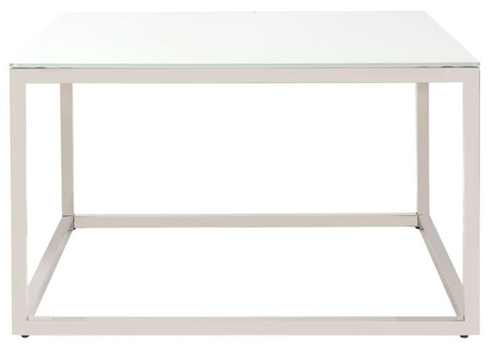 Bonanno Stainless Steel Coffee Table Top Color: White