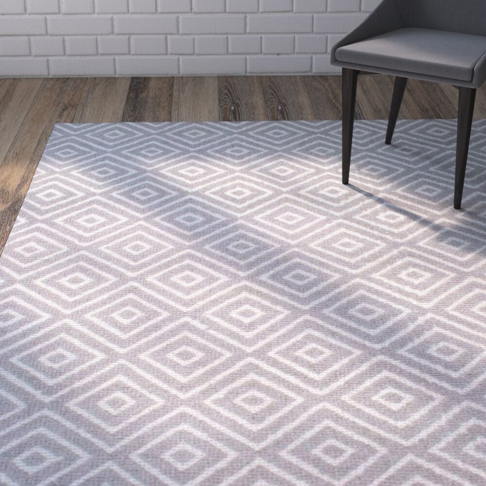 Chittening Hand-Hooked Gray Area Rug Rug Size: Rectangle 5' x 8'