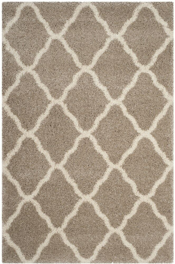 Melvin Shag Beige/Brown Area Rug Rug Size: Rectangle 6' x 9'