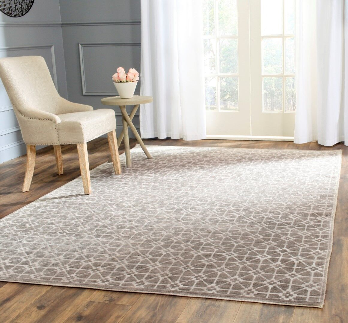 Darrow Hand-Knotted Light Brown Area Rug Rug Size: Rectangle 8' x 10'