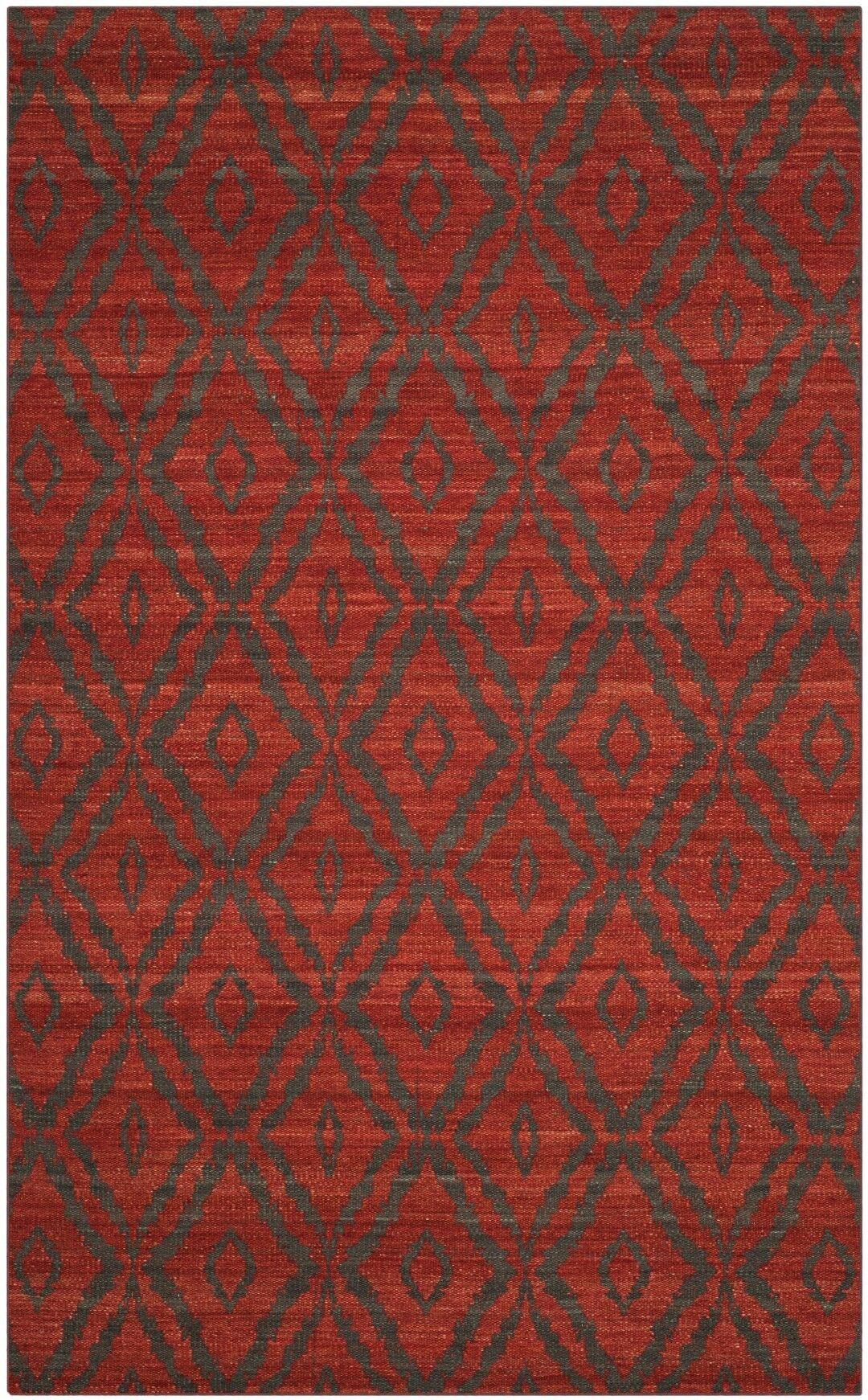 Sneyd Park Hand-Woven Area Rug Rug Size: Rectangle 5' x 8'