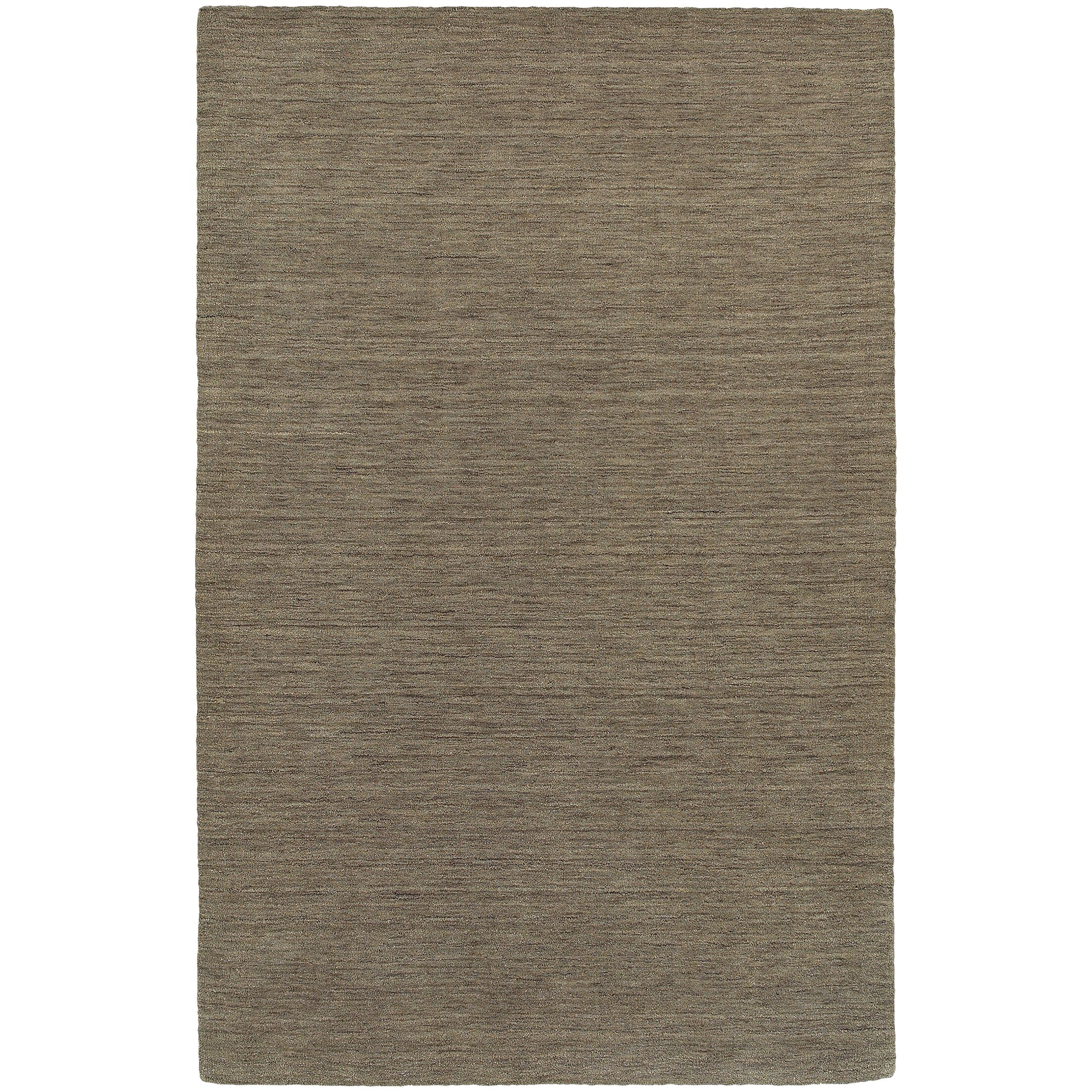 Barrientos Hand-Woven Heathered Green Area Rug Rug Size: Rectangle 8' x 10'