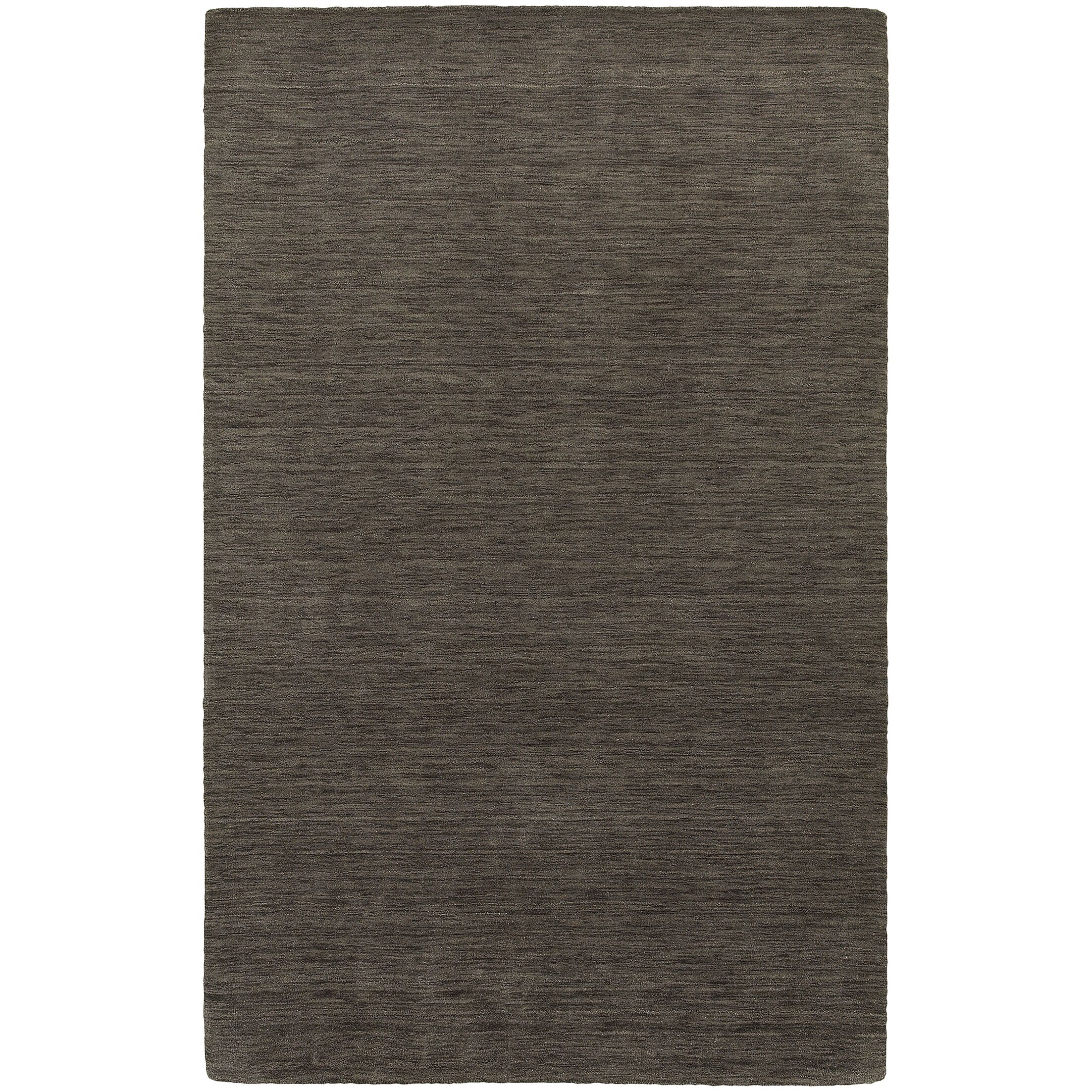 Barrientos Hand-Woven Heathered Charcoal Area Rug Rug Size: Rectangle 6' x 9'