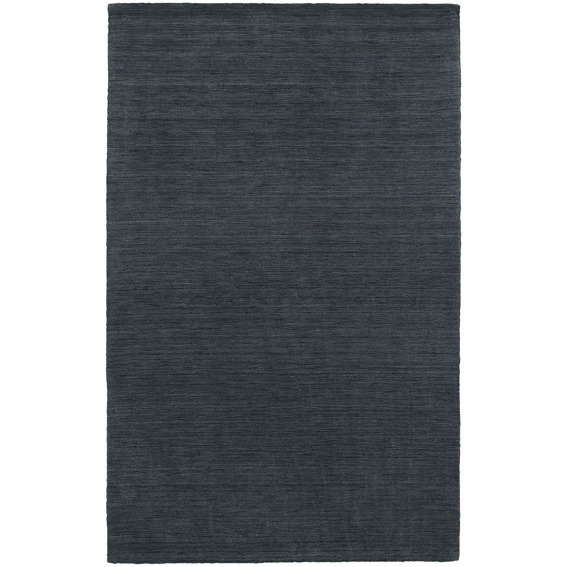 Barrientos Hand-Woven Heathered Navy Area Rug Rug Size: Rectangle 8' x 10'
