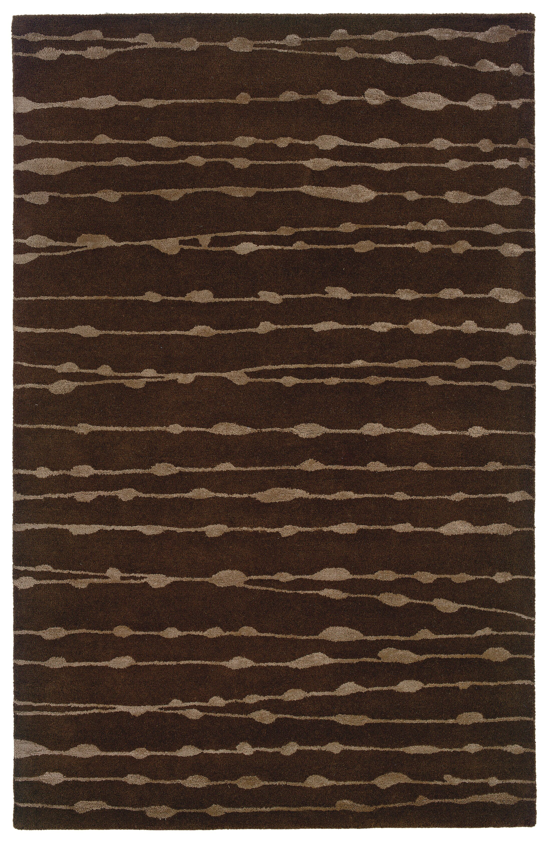 Bagley Brown Area Rug Rug Size: Rectangle 8' x 10'