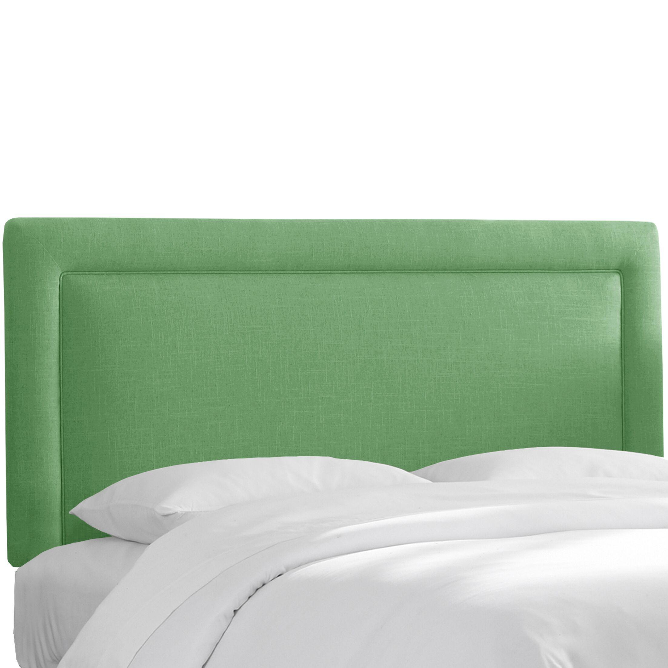 Hille Upholstered Panel Headboard Size: California King, Upholstery: Kelly Green