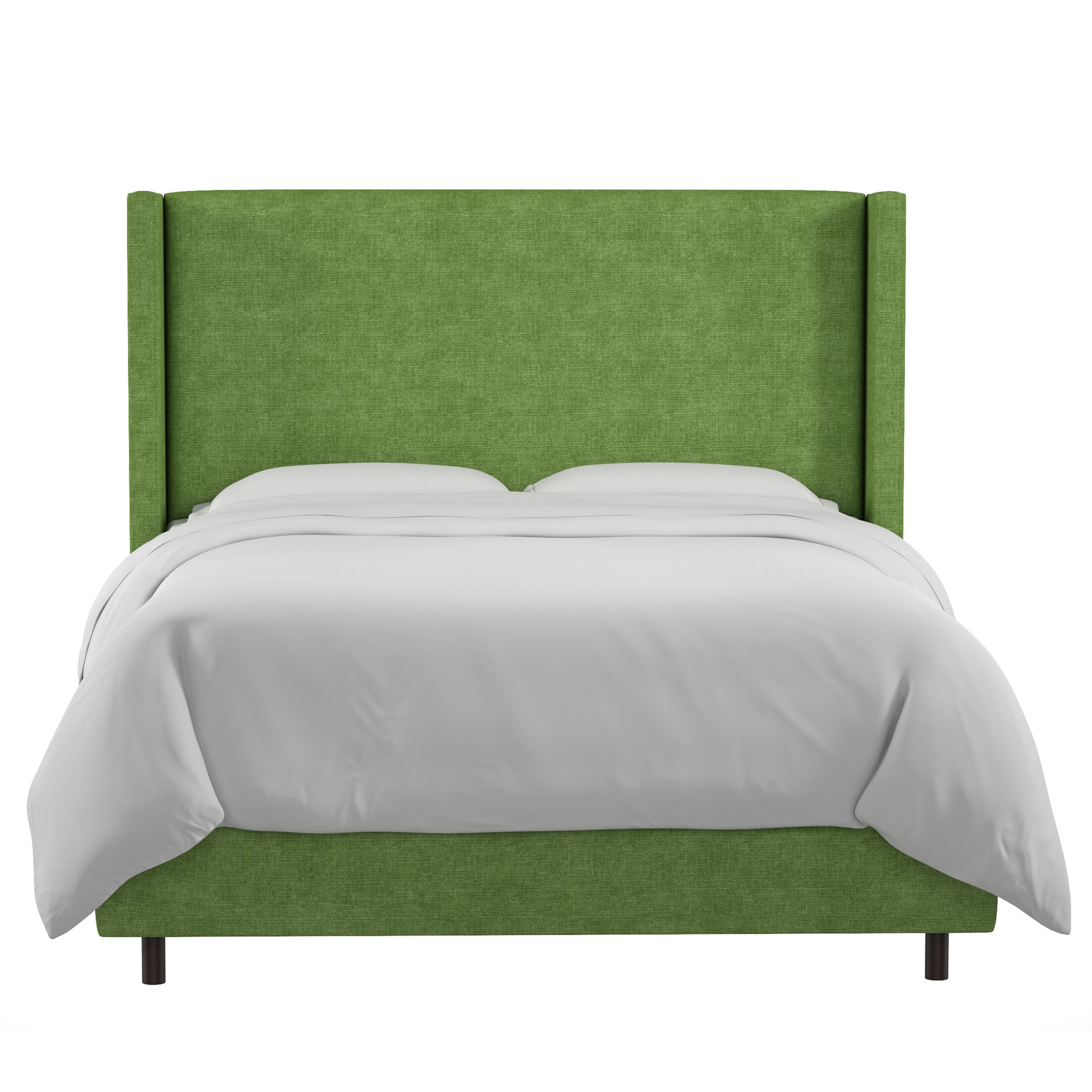 Sanford Linen Upholstered Panel Bed Size: Full, Color: Kelly Green