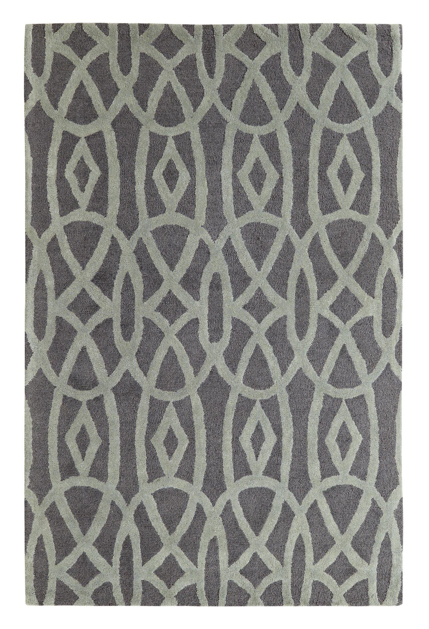 Rentz Black/Grey Area Rug Rug Size: Rectangle 5' x 8'
