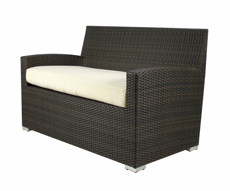 Roose Loveseat with Cushion Fabric: Off-White