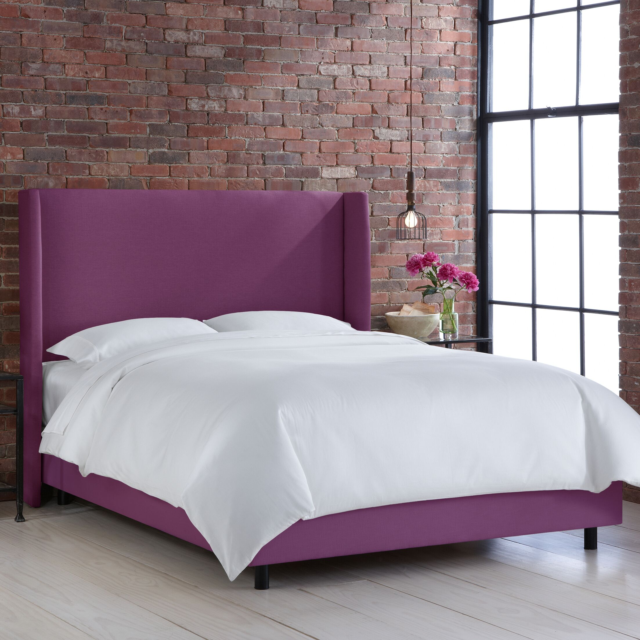 Settles Upholstered Panel Bed Size: Queen, Color: Klein Fig