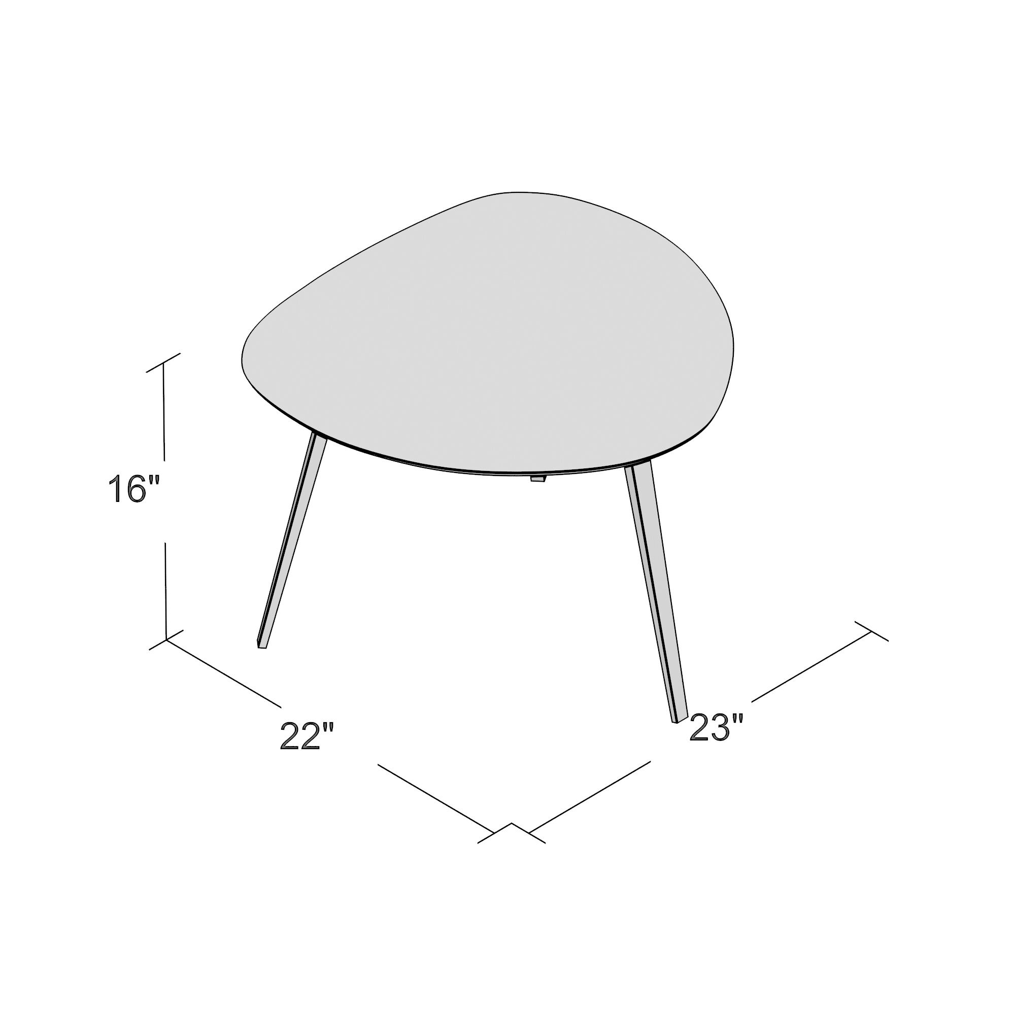 Buettner End Table Base Color: Powder Coated White, Top Color: Green