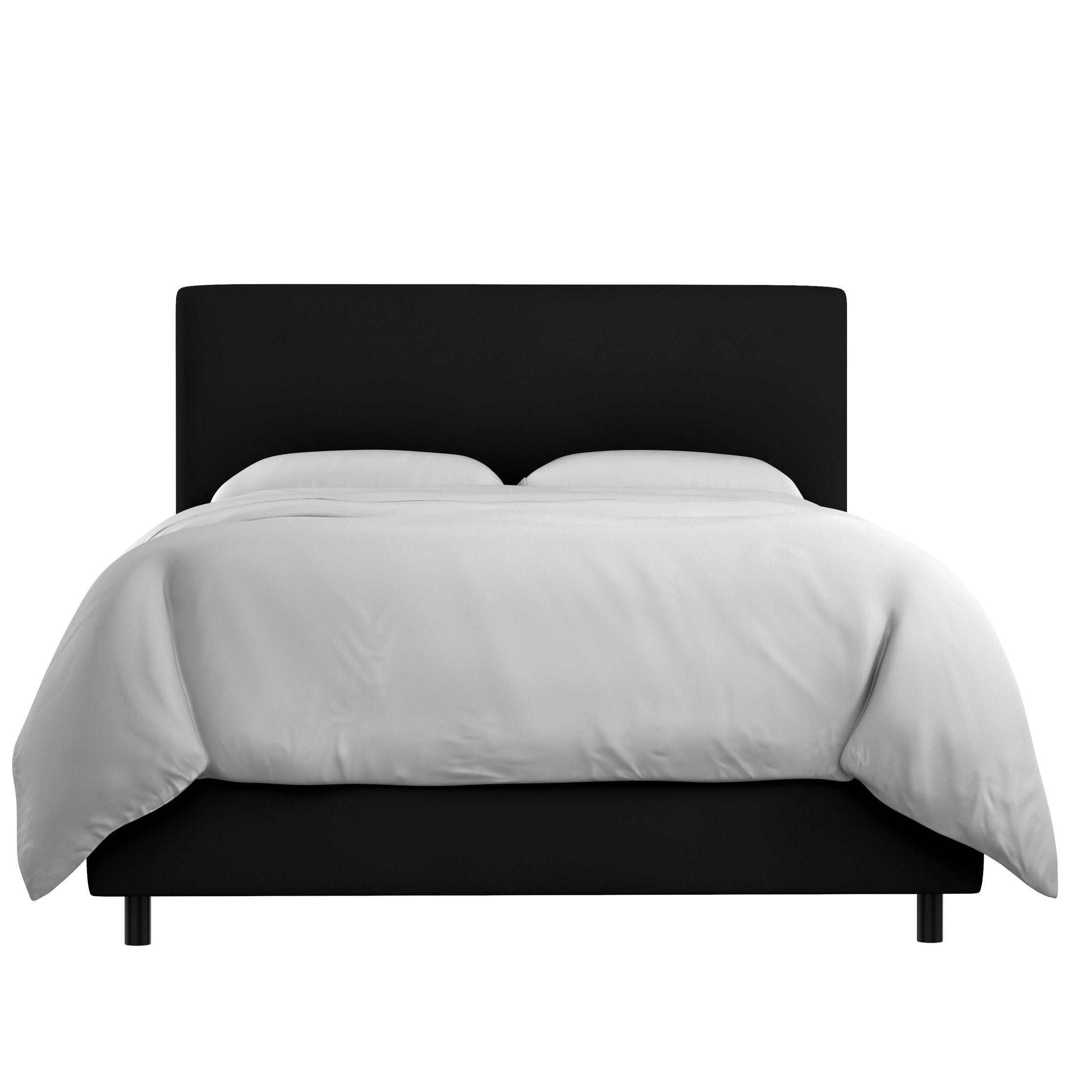 Bugg Velvet Upholstered Panel Bed Size: Full, Color: Black