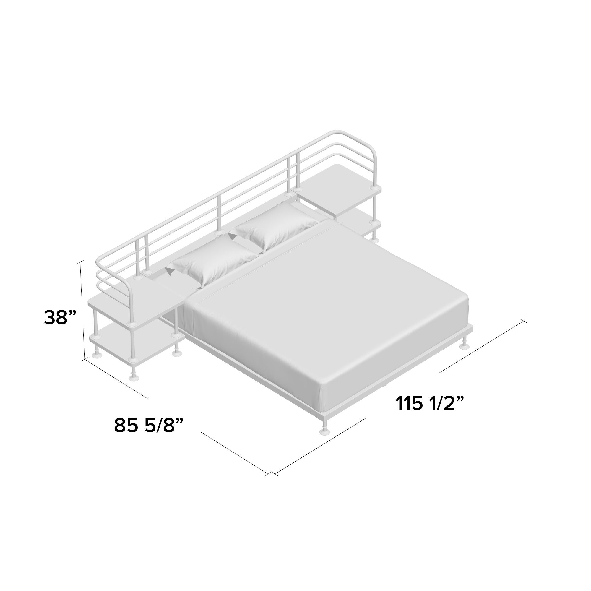 Grogg Queen Platform Bed Size: King