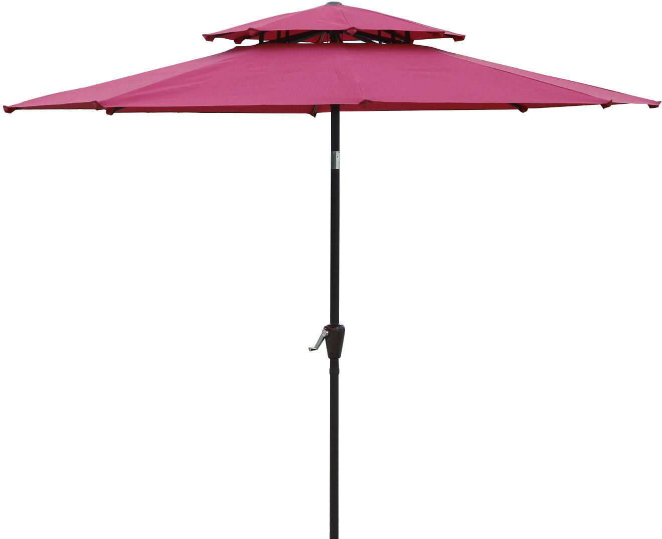 Dimond 9' Market Umbrella Fabric: Wine Red
