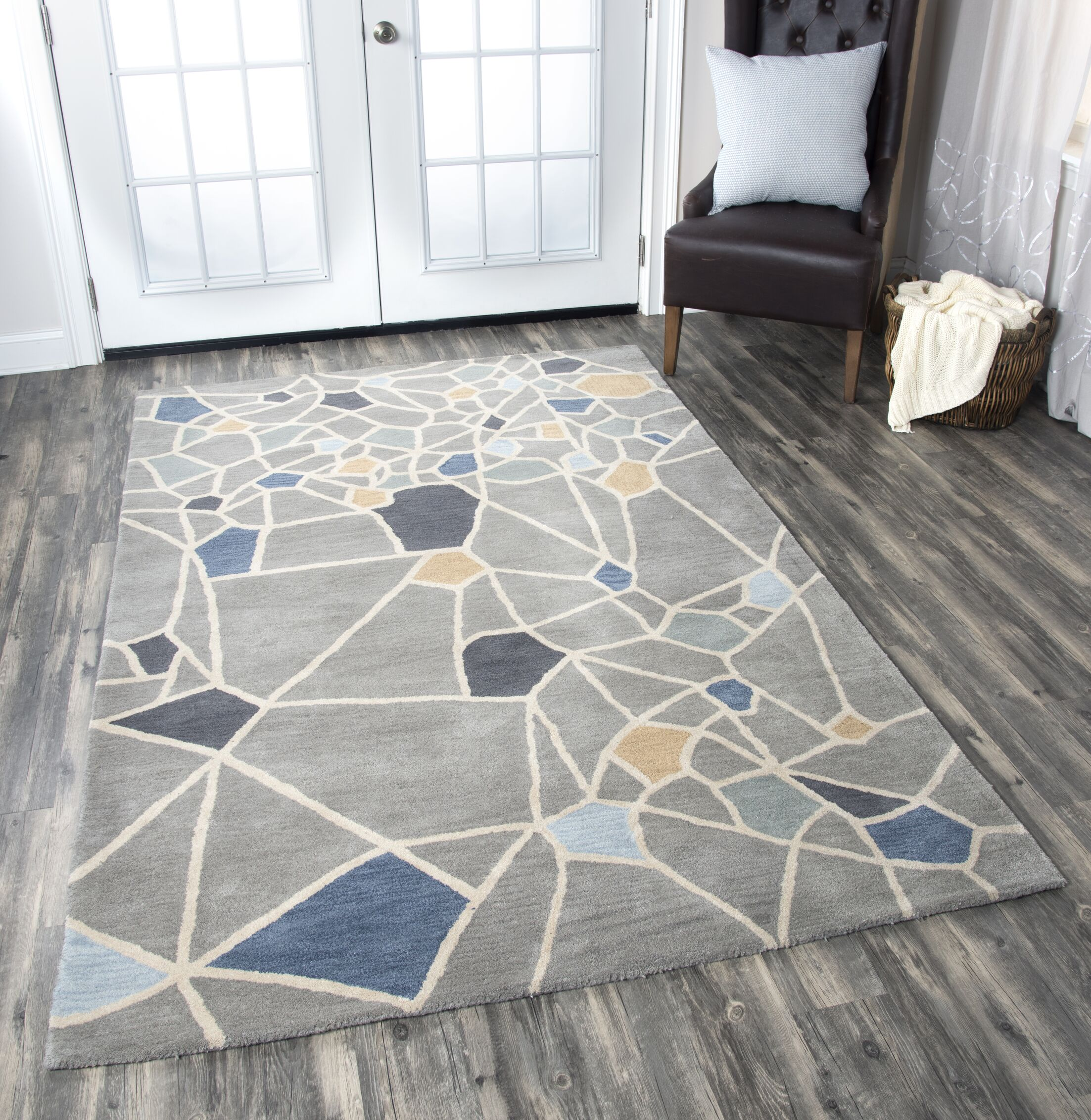 Rigoberto Hand-Tufted Gray Area Rug Rug Size: Rectangle 10' x 14'