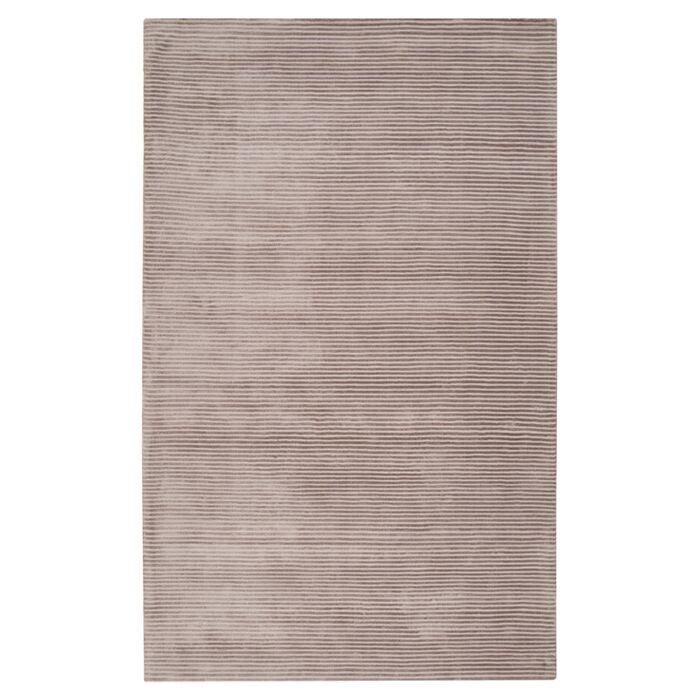 Cerny Graphite Ivory Striped Rug Rug Size: Rectangle 2' x 3'