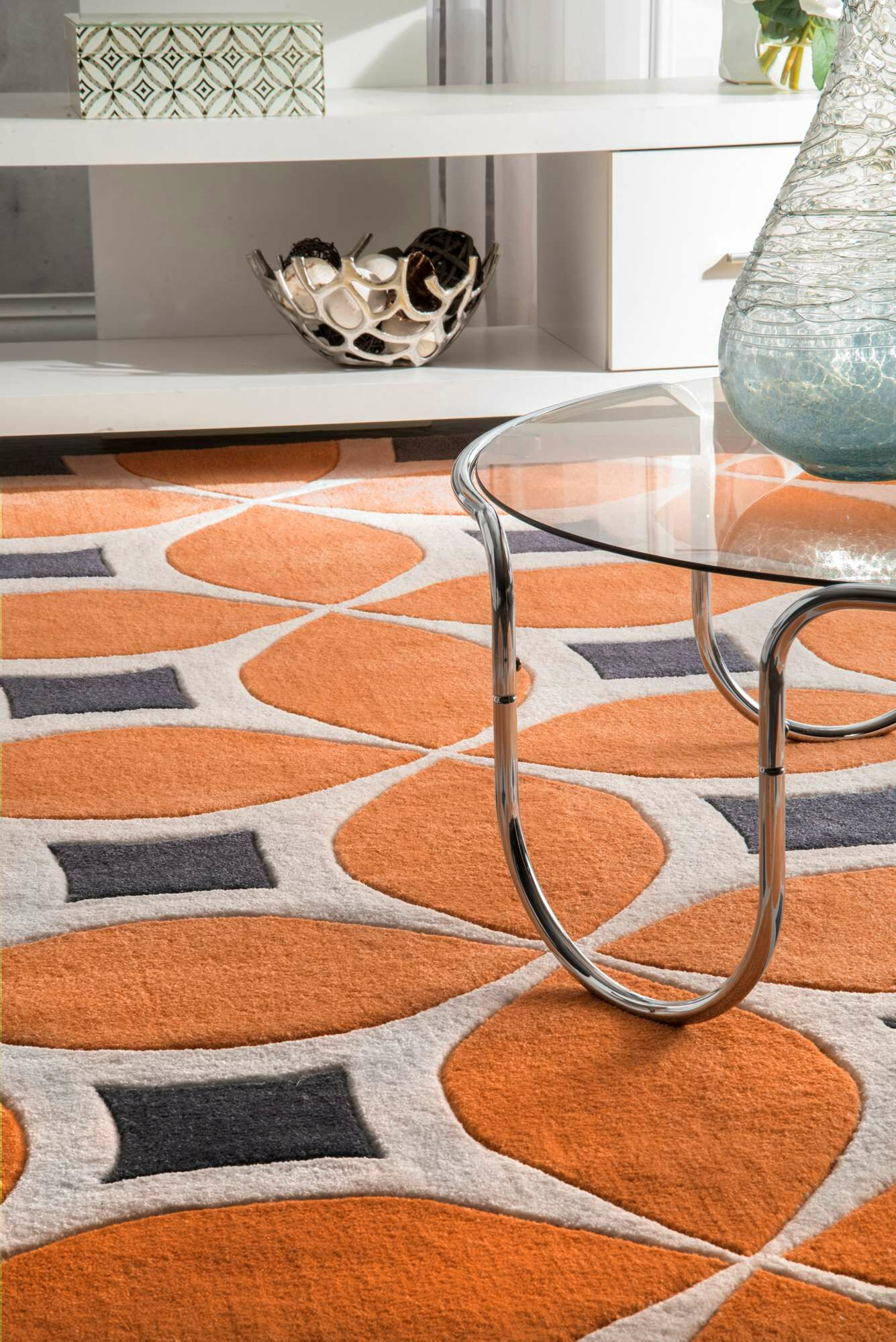 Sorrento Hand Woven Orange Area Rug Rug Size: Rectangle 12' x 15'