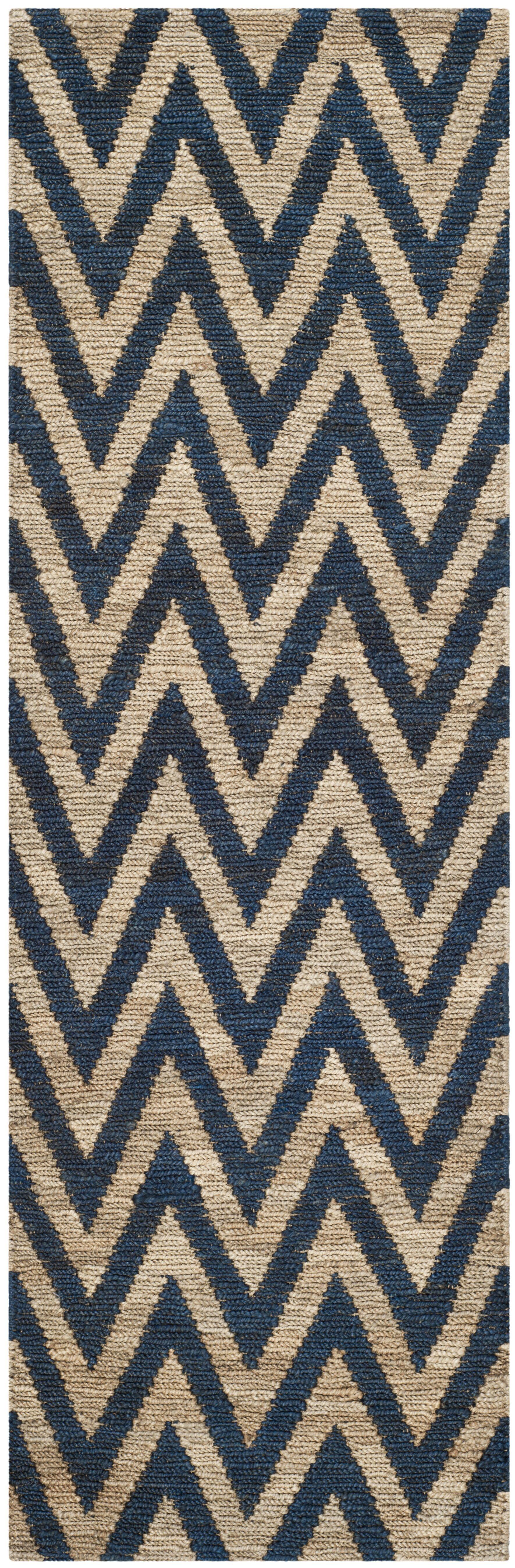Garman Blue/Natural Original Area Rug Rug Size: Rectangle 6' x 9'
