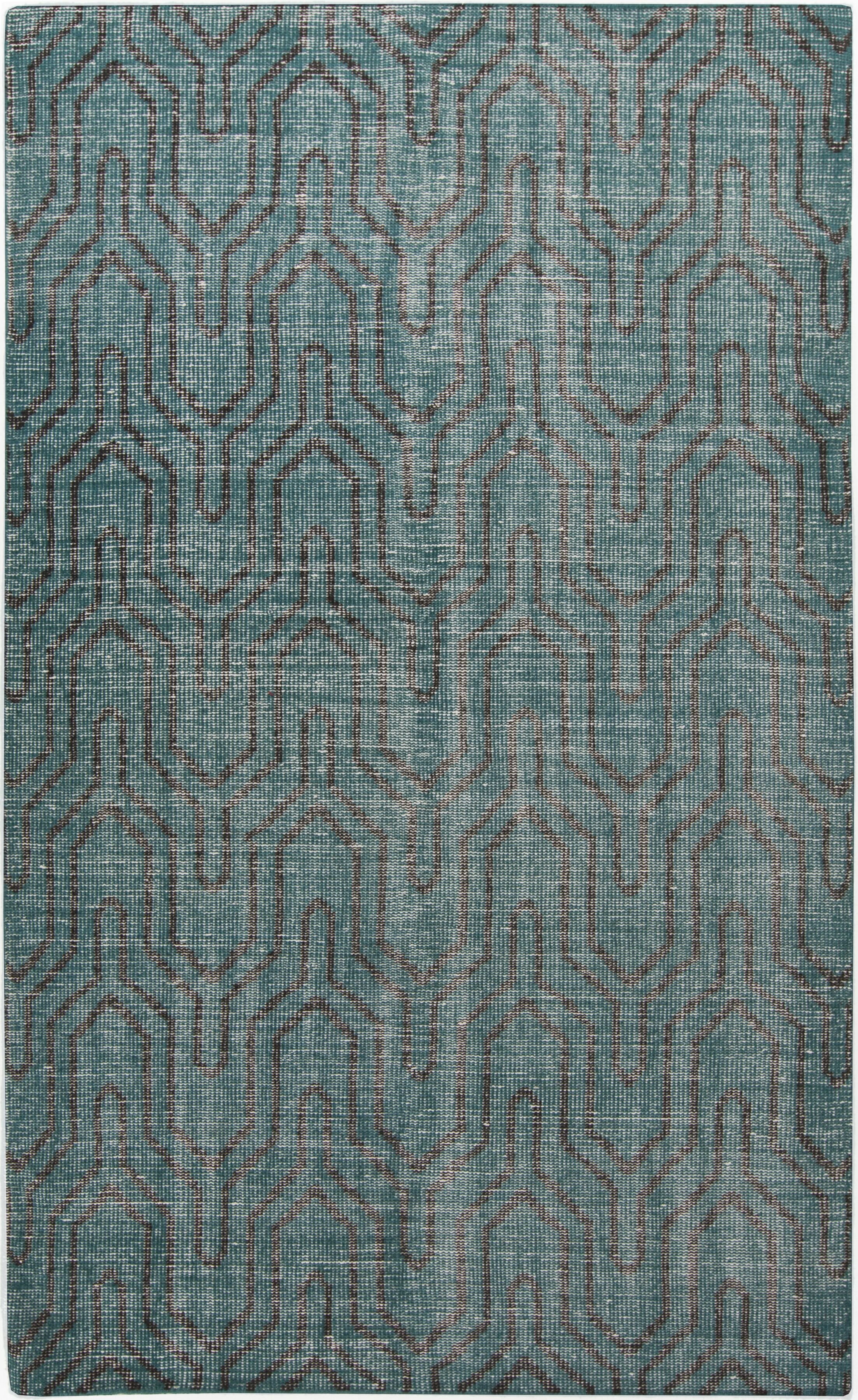 Gartman Geometric Teal Area Rug Rug Size: Rectangle 5'6