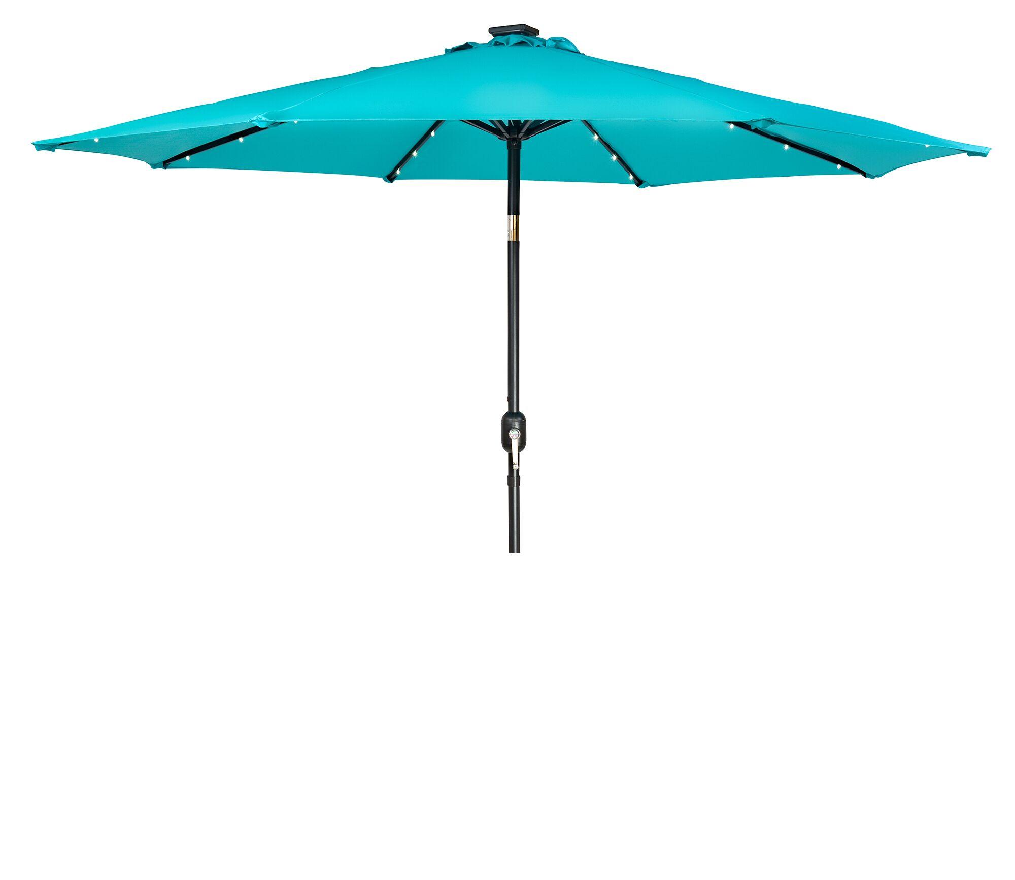 North Walsham 9' Lighted Umbrella Fabric: Pcock