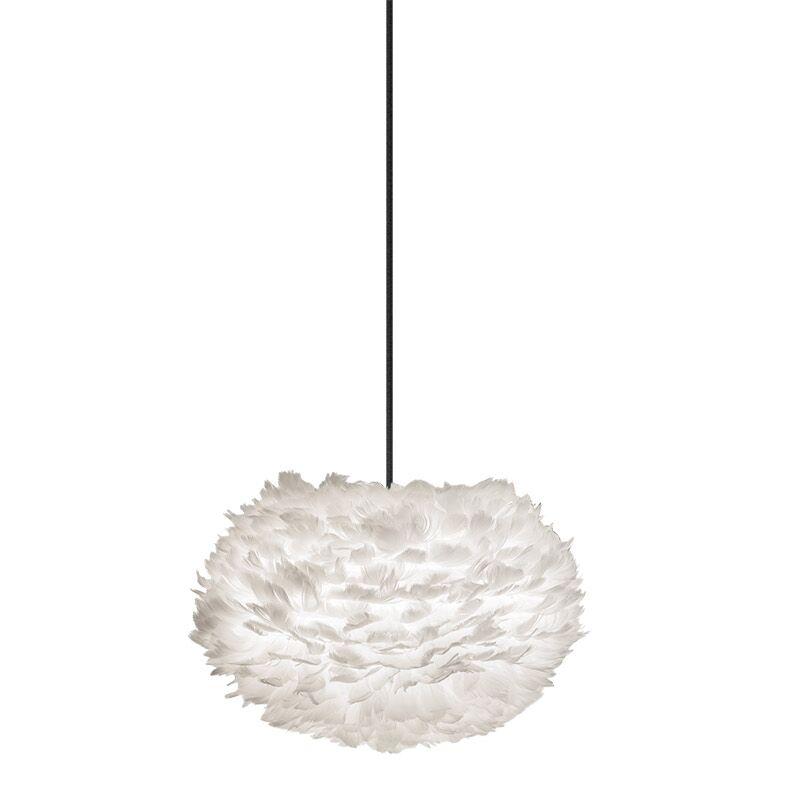 1-Light Globe Plug-In Pendant Shade Color: White, Cord/Cable Finish: White, Size: 15.7