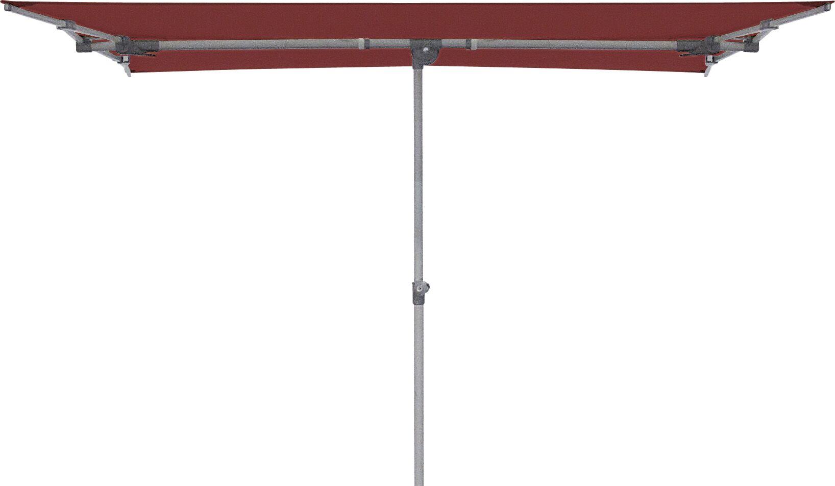 Federico 5' X 7' Rectangular Market Umbrella Fabric: Deep Red