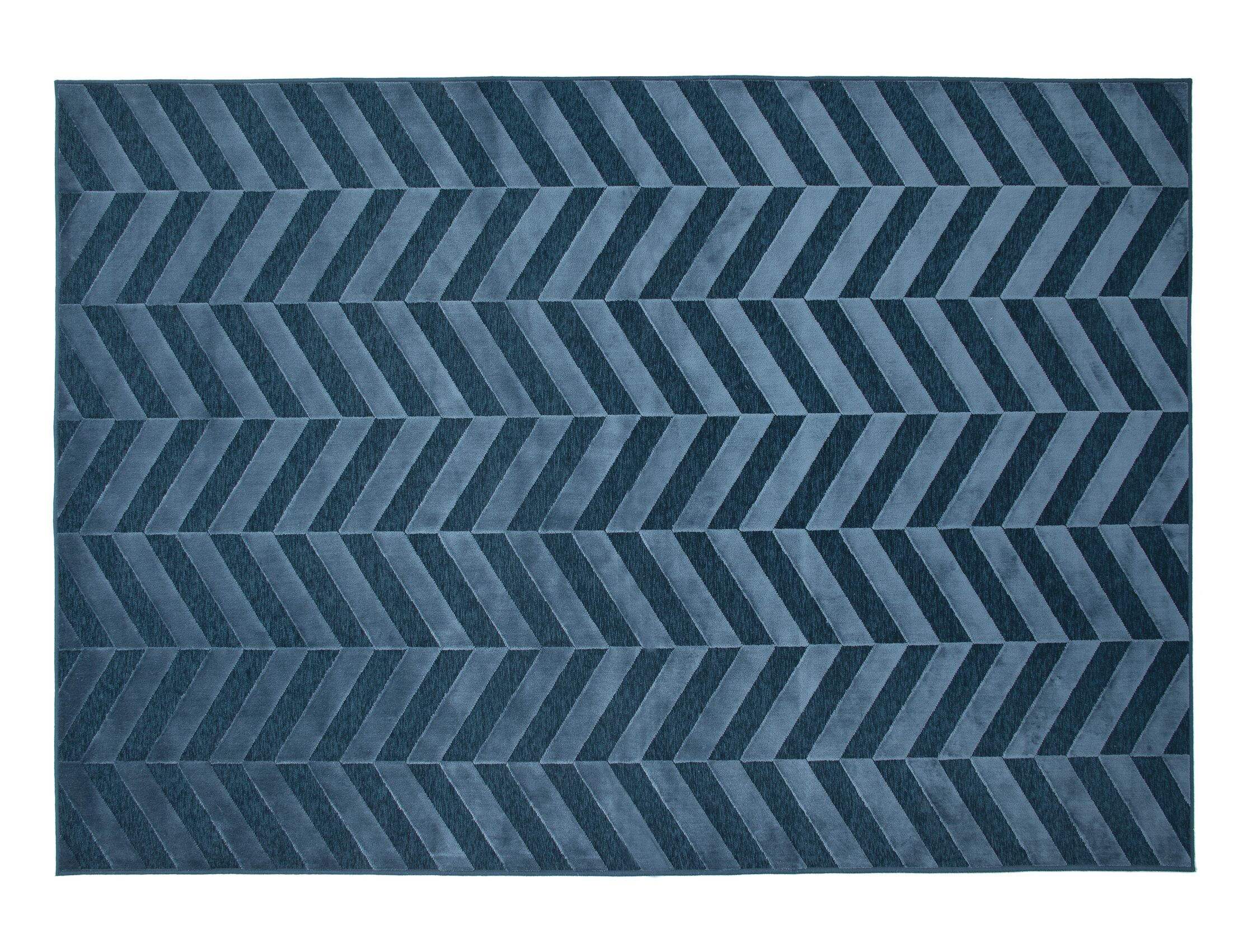 Teague Cobalt Area Rug Rug Size: 5'3