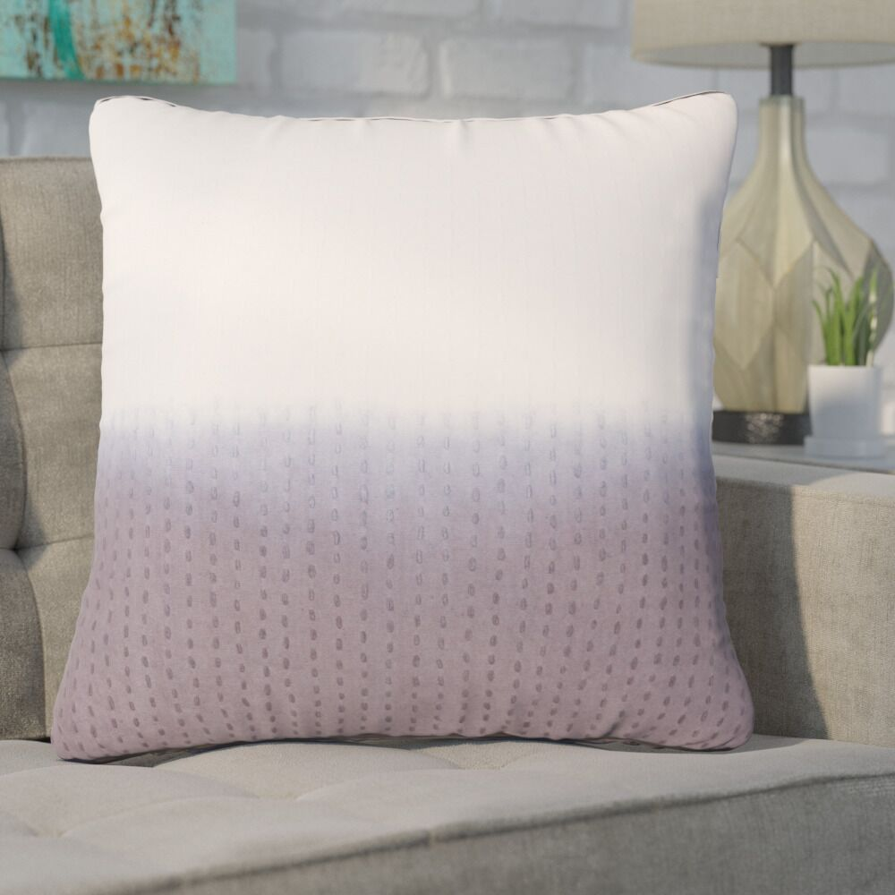 Hepworth Cotton Throw Pillow Color: Gray