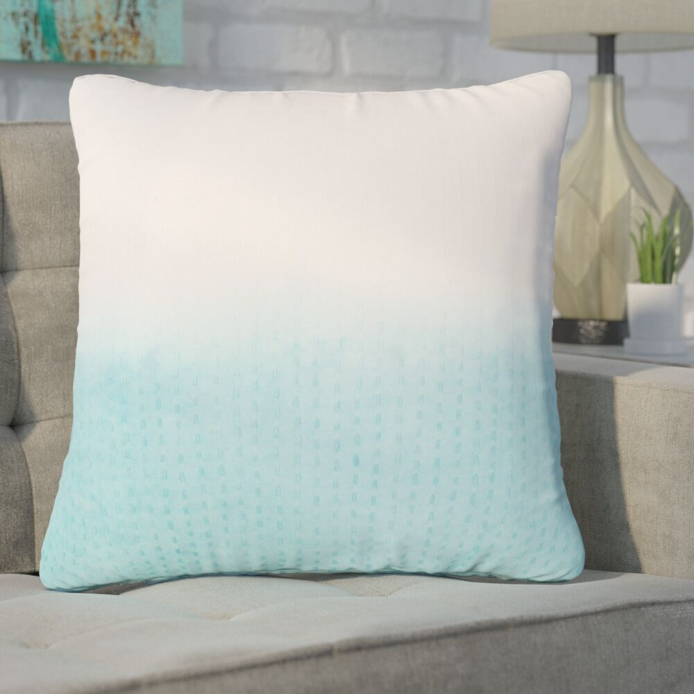 Hepworth Cotton Throw Pillow Color: Light Blue