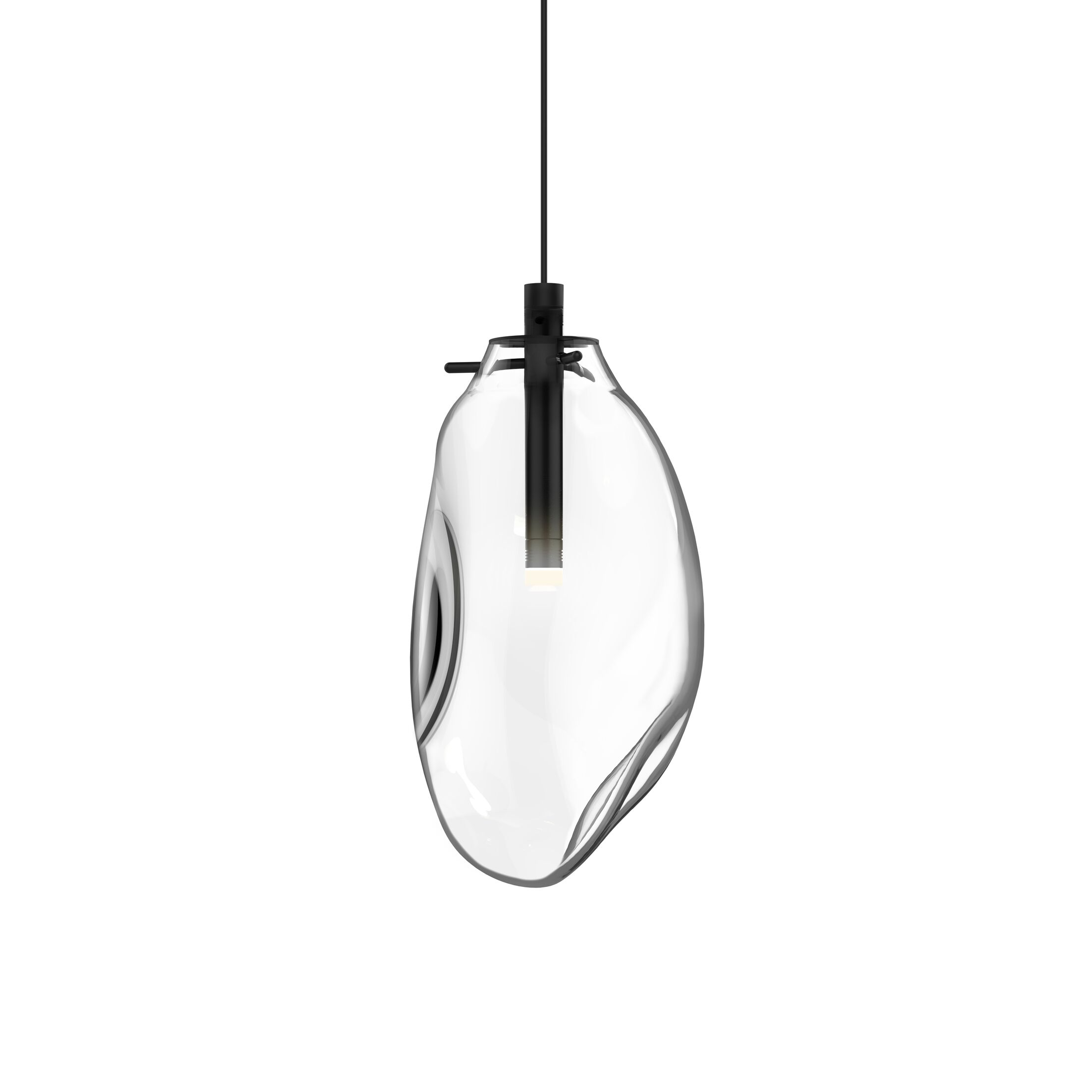 Tierra 1-Light Novelty Pendant Shade Finish: Clear, Size: 10.75