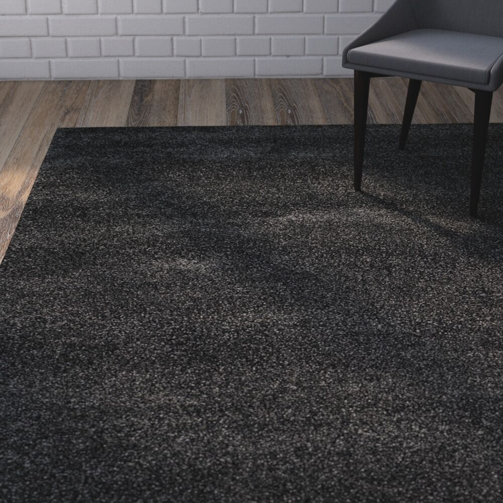 Buster Dark Gray Area Rug Rug Size: Rectangle 2' X 12'