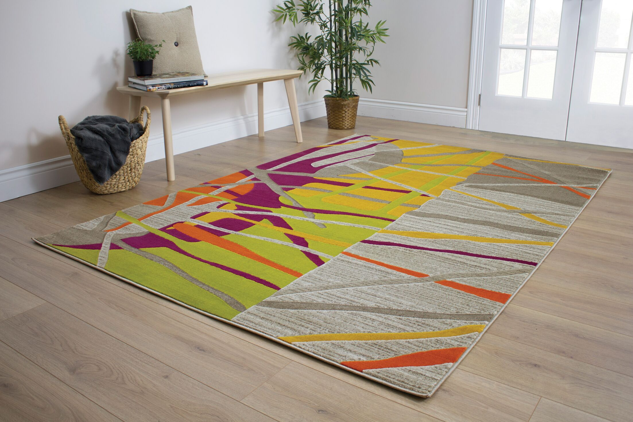 Caster Abstract Texture Area Rug Rug Size: Rectangle 7'10
