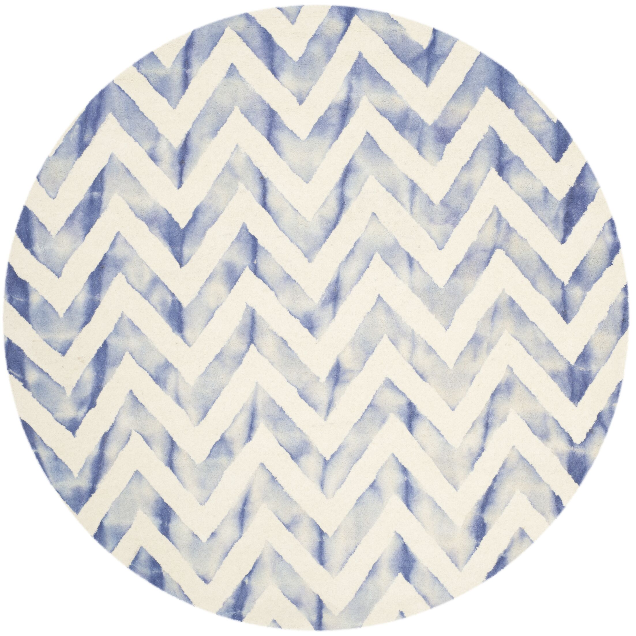 Chou Ivory/Blue Area Rug Rug Size: Rectangle 3' x 5'