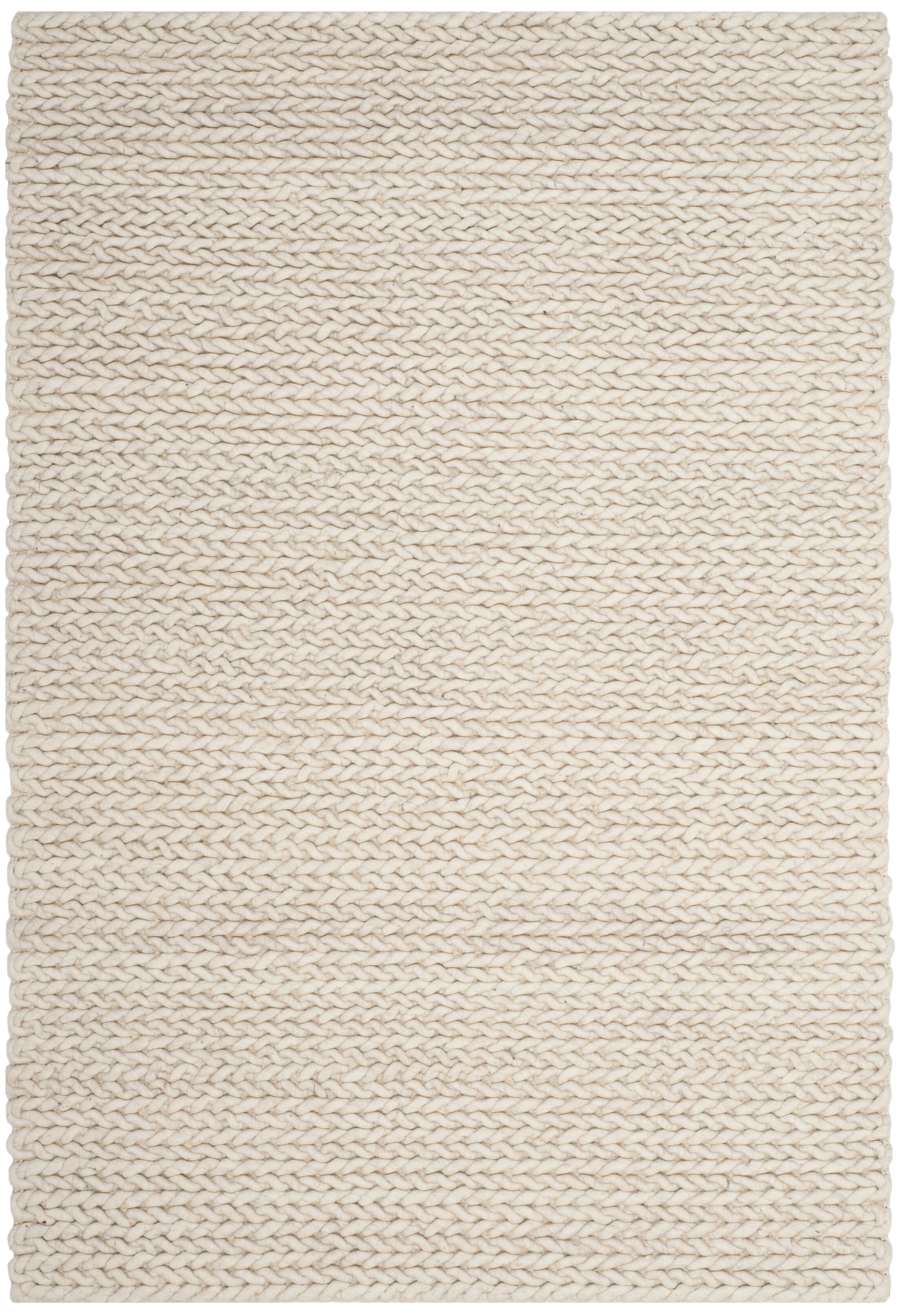 Sinope Hand-Tufted Ivory Area Rug Rug Size: Rectangle 4' x 6'