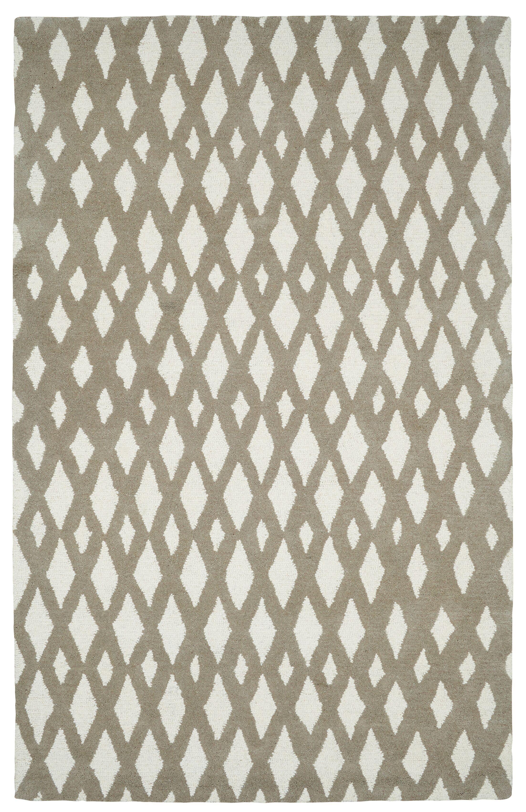Rentz Beige/Ivory Geometric Area Rug Rug Size: Rectangle 9'6