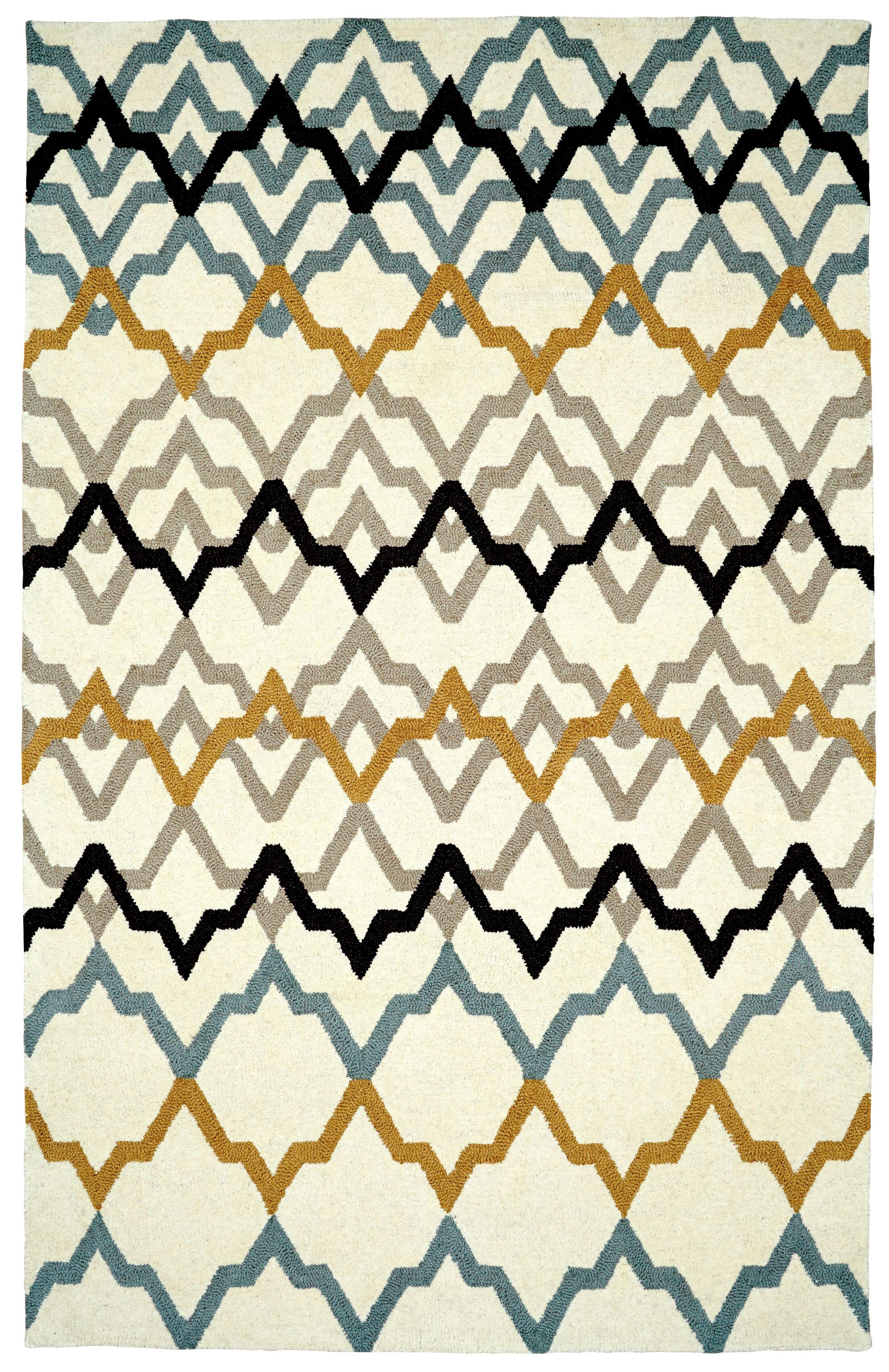 Rentz Ivory Area Rug Rug Size: Rectangle 8' x 11'