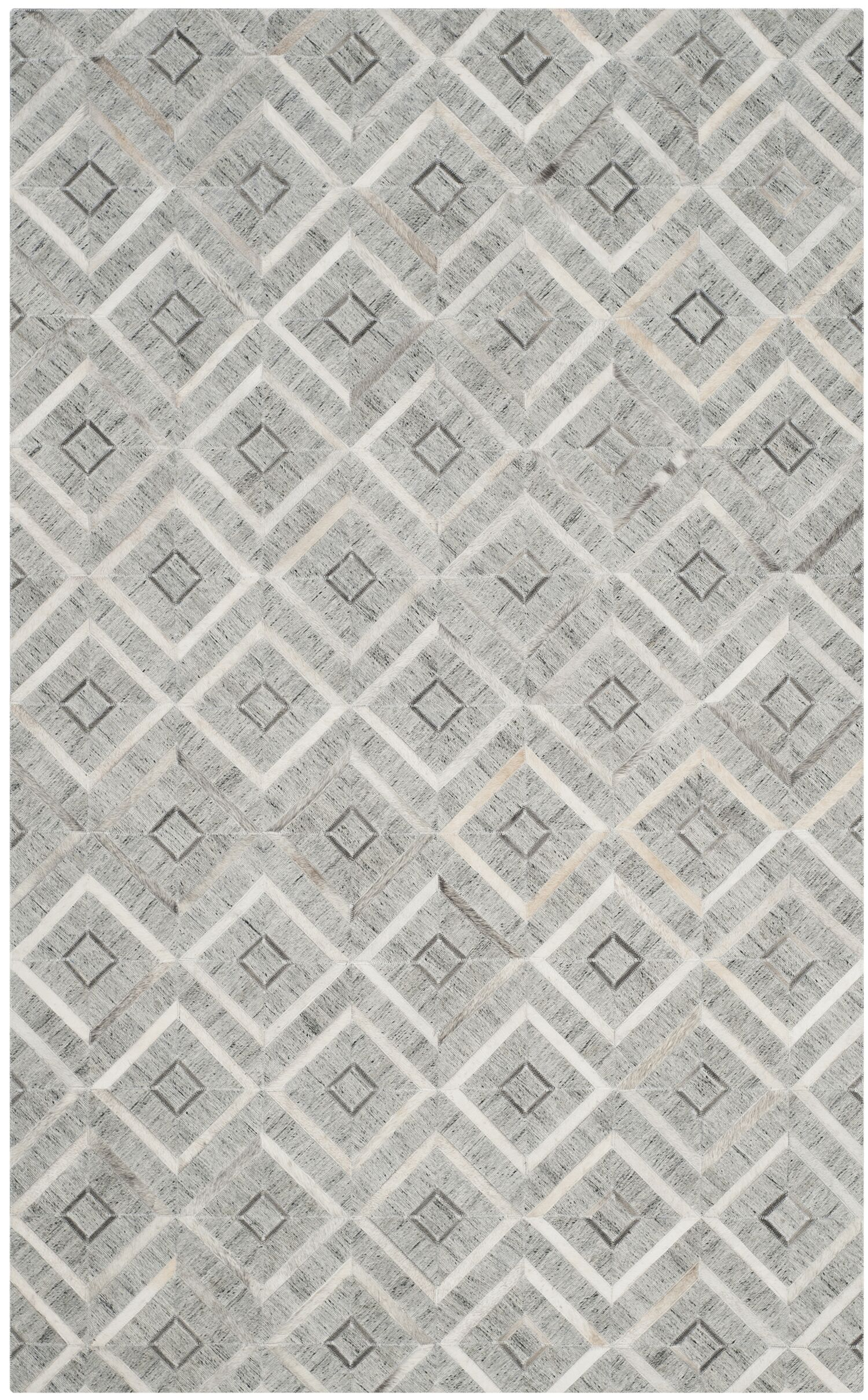 Sevastopol Hand-Woven Ivory/Gray Area Rug Rug Size: Rectangle 3' x 5'